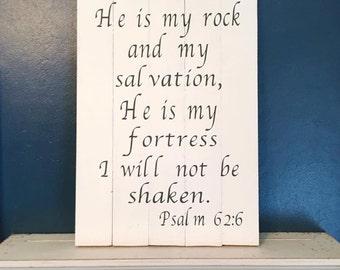 Bible verse wooden sign