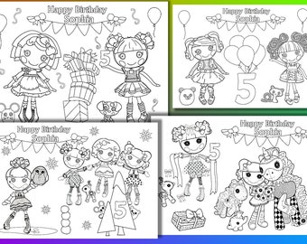 Sesame Street Birthday Party Personalized coloring pages