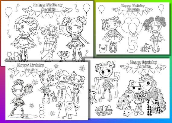 Lalaloopsy Coloring Pages Pdf : Lalaloopsy birthday party coloring pages activity pdf file