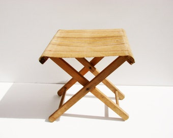 tabouret camping etsy. Black Bedroom Furniture Sets. Home Design Ideas
