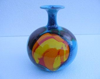 Blue Hutschenreuther vase