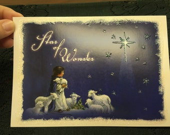 Star of Wonder Christmas Greeting Card.