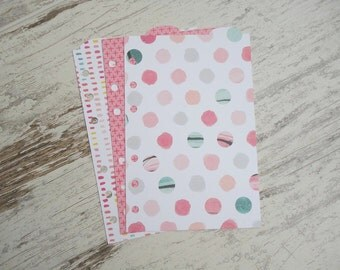 """A6 top dividers """"love pink"""""""