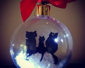 Any of our Silhouette Baubles in Silver Top - Ex Display Items Ready to Post - Sale Price