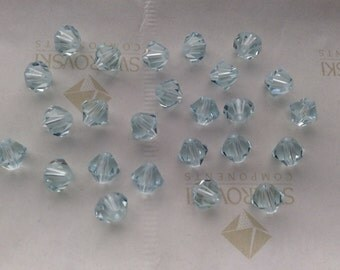 Swarovski #5301 Crystal Light Azore Bicone Faceted Beads 4mm 6mm 8mm