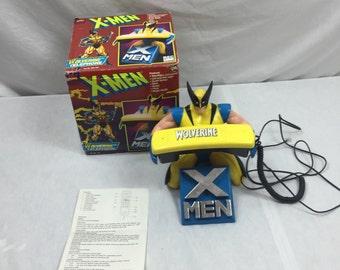 Marvel X-Men Wolverine Telephone with Box 1994