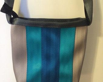 Seatbelt purse, Cross body bag, small messenger bag