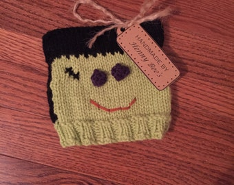 Knit Frankenstein Hat for Baby, Toddler or Child