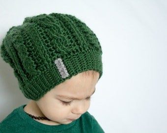 Cable Toque | Slouch Beanie | Crochet Cable Hat