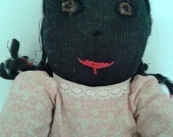 Vintage Black Americana Doll, Girl