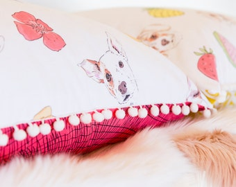 Field of Poppies Floor Cushion/Pet Bed