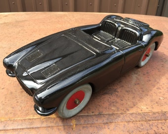Big Vintage Austin Healey Blow Mold Toy Car One of a Kind.