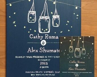 painted wedding invite