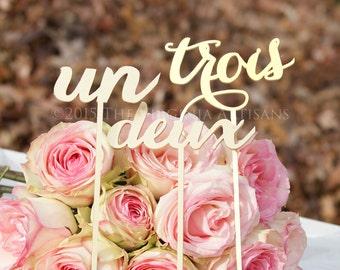 Reception Table Numbers - Set of 1-15 - Numéros de Table de Mariage - French - Français - Gold - Silver - DIY - Elegance Line