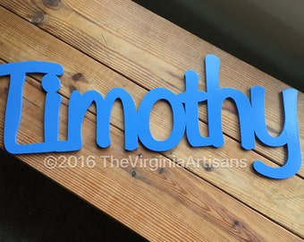 Personalized Nursery Decor - Laser Cut Name - Nursery Decor