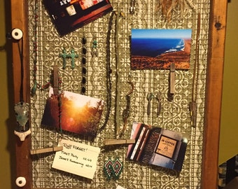 Upcycled Jewelry Organizer Memory / Inspiration Board
