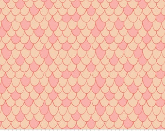 100% Cotton - Scales- Pink Chai - Under the Sea Collection - Camelot Fabrics - Quilting Cotton - Fabric by the Yard - Quilting Fabric