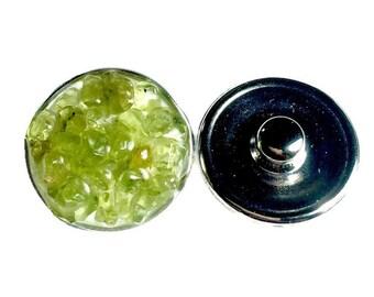 Snap charm Aventurine gemstone snap jewelry jewelry interchangeable charm bracelet