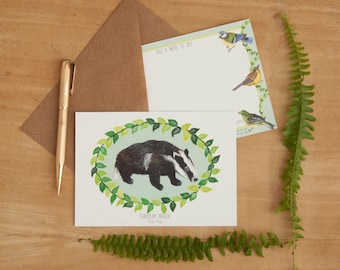 Pack of 6 Illustrated Notelets | 6 Hand Drawn British Wildlife Designs and Envelopes | British Wildlife | Correspondence Card | Notelets