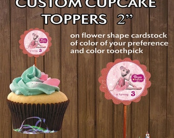 25 pc CUPCAKE TOPPERS Angelina Ballerina Party~ Decoration Supplies