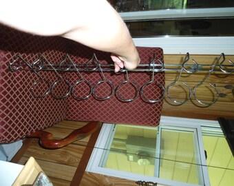Wall Wine Rack, Wine Rack, Rustic Wine Rack, Wine Storage, Wine Holder, Wedding Gift, Vintage Barware, Silver Wall Hooks, Metal Wine Rack