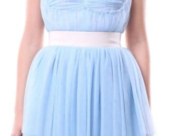 Tutu dress tulle light sky blue Bridesmaid Dress wedding dress