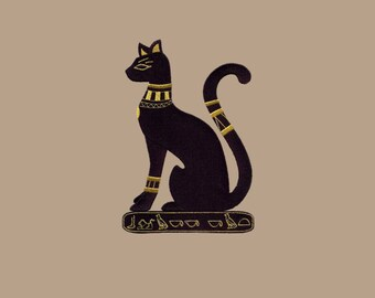 Mau Cat Cushion Cover Embroidered Pillow case Egyptian Spotted cat