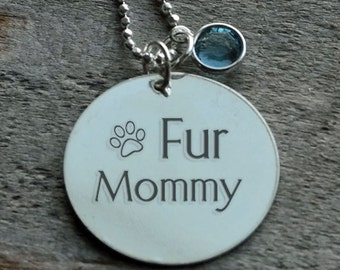 Fur Mommy Personalized Engraved Necklace