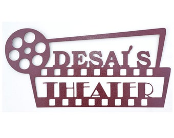Custom Personalized Movie Theater Sign