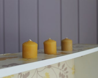 100% Pure Beeswax Votive Candles, Hand Poured Beeswax, Beeswax Votive, Wedding Favour, Home Decor, Natural Candles, Canadian Beeswax