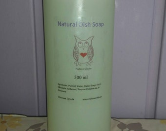 Natural Dish Soap - Liquid Dish Soap - ECO Certified - Biodegradable - House warming - Grease Cutting Soap -