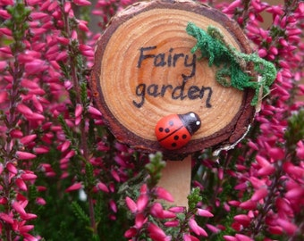 Handcrafted fairy garden signpost - can be personalised