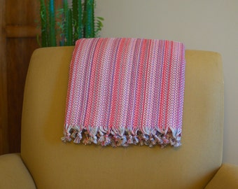 Hand-woven cotton blanket