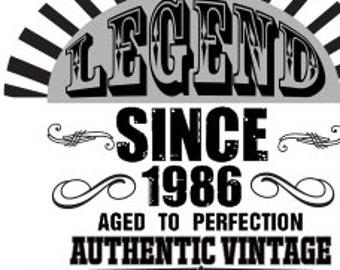 Legend 1986 SVG Cutting File