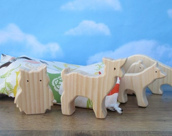 Wooden forest animal toys for kids - Wooden toy animals - Wooden animals to paint - Wooden animal toys - Child's gift - Easter basket toy
