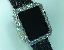 Apple Watch~38mm/42mm~Swarovski Crystal~ Micro Pave Rhinestone Sparkle Bling Bezel Case