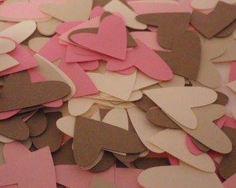 Heart Die Cuts, Confetti, 1 Inch, Embellishments, Craft Supplies, punchies, Scrapbooking, Wedding, Baby Shower, Paper Shapes, Decorations