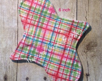 Reusable Cloth Pad- Liners/Lightday- 6 inch- Flannel