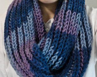 Knit scarf, knit infinity scarf, chunky knit scarf, knit cowl, winter scarf, knit circle scarf, chunky cowl, long scarf, wool scarf