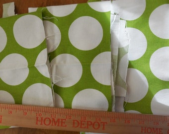 Destash- 3 Pieces Of Home Decor Weight Premier Prints Dandie Dot Chartreuse and White
