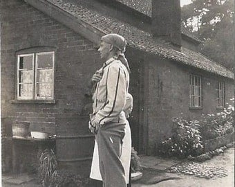 Vintage 1932 Small Black and White Photograph - The Game- Keeper's Cottage - Norfolk, UK