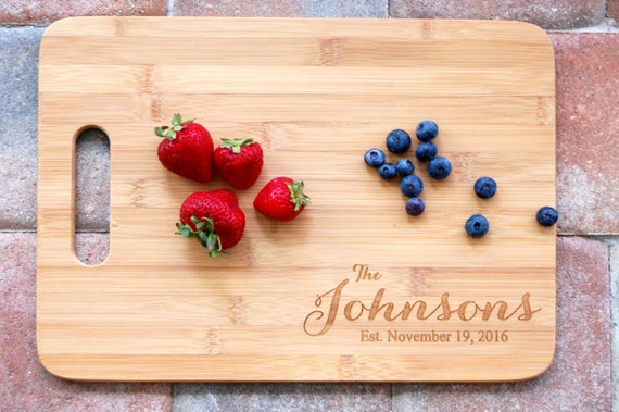 New Home Housewarming Gift Personalized Cutting Board Wedding Gift for Couple Custom Name Wedding Gift, Kitchen Decor, Bridal Shower Gift