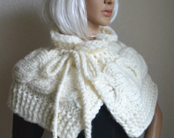 Knitted women's shawl