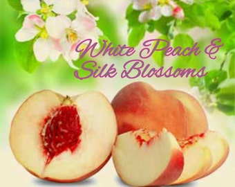 White Peach & Silk Blossoms Candles/Bath/Body Fragrance Oil ~ 1oz Bottle