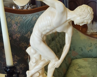 Vintage Resin Discus Thrower Statue