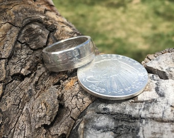 Keepsake Jewelry- Beautiful 1/2 oz .999 Fine Silver Round Incuse Indian Coin Ring - Sizes 8-13