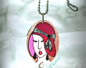"""The collection """"Retro women"""" necklace (003)"""
