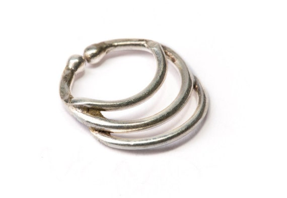 Septum Ring Sterling Silver 925 Septum Fake Septum Tribal Jewelery Indian Nose Ring S15 Gift Boxed and Gift Bag Free UK Delivery