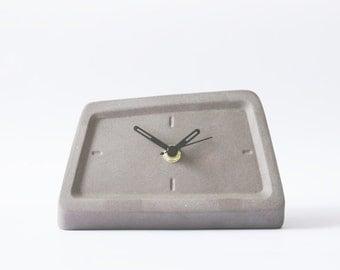 Modern Ceramic Table Clock, Minimalist Desk Clock, Laca Rock, Lava Stone,  Husband