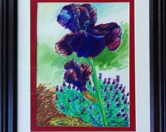 Iris and Lavender